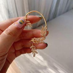 Full Ear Earrings, Cuff Earrings, Korean Aesthetic, Bold Fashion, Vines, Gold Rings, Bangles, Unique, Silver
