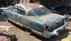 This 1955 Kaiser Manhattan was built with a supercharger and low production numbers make it rare. But it will need a complete restoration. #Kaiser, #Manhattan
