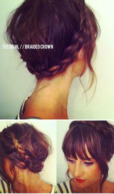 tutorial // braided crown