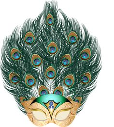 Peacock Feather Carnival Mask