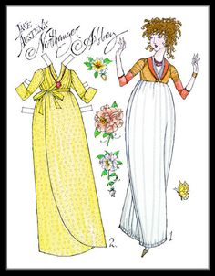 Jane Austen's Northenger Abbey--paper dolls page 3 for lots of similar dolls which print out well