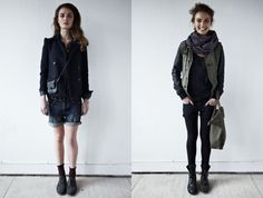 love the look on the right; totally street style