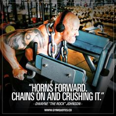Horns forward. Chains on and crushing it. 👊 Love that #beastmode mentality and the words of #therock 🙌 #gymmotivation #fitnessmotivation #gymquotes #gymaddict #gymlife #fitfam www.gymquotes.co
