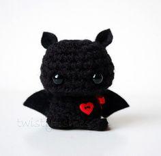 Baby Black Bat - Kawaii Mini Amigurumi