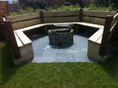 Seating area and fire pit | Garden Maintenance and Landscaping | Country Garden Croyde | North Devon