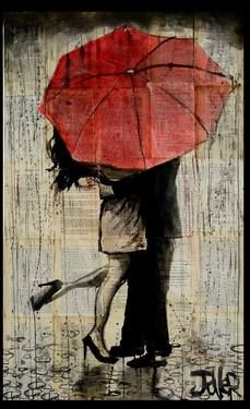 "Saatchi Art Artist Loui Jover; Drawing, ""the red umbrella"" #art"