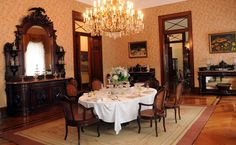 The Dining Room at Summer Imperial Palace. Petropolis, Brazil.