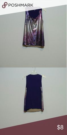 Purple sequenced top Purple sequenced  sleeveless top Chico's Tops