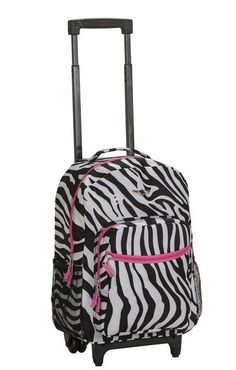 Backpack Bag School Girls Pink Rolling Luggage Travel Zebra Design Print  New (eBay Link) a9e3fc2be78e7