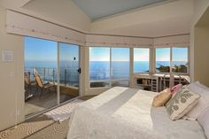 Panoramic ocean views at this Aptos, California beach house #views #beachhouse #vacationrental #beachhouserentals