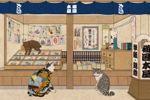 ギャラリー猫町で開催された〈歌川国芳トリビュート展〉に出品した作品です。ちゃきちゃきの江戸っ子で猫好きだった国芳さんを偲んで、そのまんまですが、江戸っ子猫を描きました。