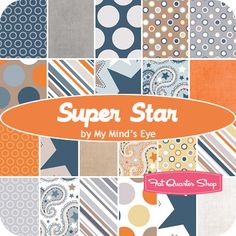 Super Star Fat Quarter Bundle My Mind's Eye for Riley Blake Designs  Want this fabric for Xanders room!