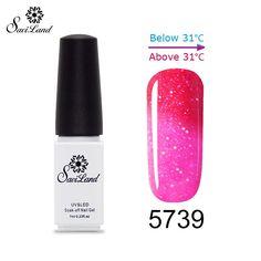 1pcs Thermo Varnishes Gel Polish Soak Off Mood Color Temperature Change LED UV Nail