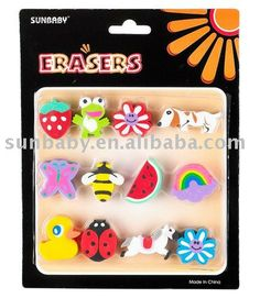12ct Funny Erasers, Good Promotional gift set $0.30~$0.35
