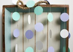 Mint Green, Purple Lavender and White 12 ft Circle Paper Garland- Wedding, Birthday, Bridal Shower, Baby Shower, Party Decorations. $10.00, via Etsy.