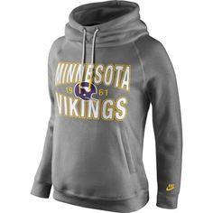 Minnesota Vikings Nike Women's Rewind Rally Funnel Hoodie – Purple