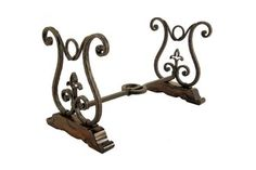 Wrought Iron Table Base Seville, top w Travertine or Marble