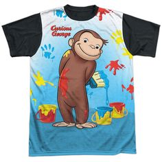 """Checkout our #LicensedGear products FREE SHIPPING + 10% OFF Coupon Code """"Official"""" Curious George/paint All Over - S/s Adult White Front Black Backt- Shirt - Curious George/paint All Over - S/s Adult White Front Black Backt- Shirt - Price: $24.99. Buy now at https://officiallylicensedgear.com/curious-george-paint-all-over-s-s-adult-white-front-black-backt-shirt-licensed"""