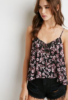Floral Print Buttoned Cami | Forever 21 - 2000052394