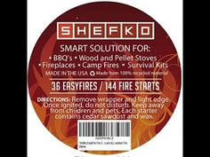 http://www.amazon.com/dp/B00Q1OVSBE - This Will Light Your Fire! SHEFKO Fire Starter Review