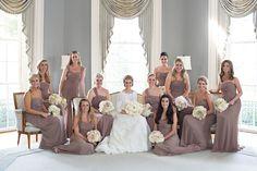 mauve bridesmaid dresses | Patricia Lyons #wedding