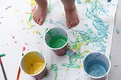 just flour, water and food coloring