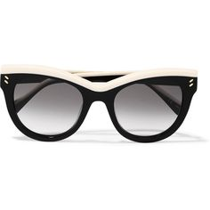 Stella McCartney Cat-eye acetate sunglasses (1 440 PLN) ❤ liked on Polyvore featuring accessories, eyewear, sunglasses, glasses, black, acetate sunglasses, cateye sunglasses, cat-eye glasses, cat eye sunglasses and uv protection sunglasses