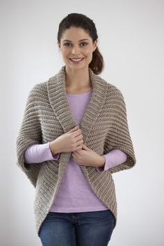 Canyon Shrug--its actually a crochet pattern, but it gives the basic rectangle to knit or crochet and how to turn it into a shrug.