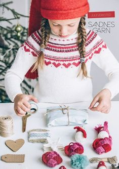 "Ravelry: Nr 24 ""Eva"" genser pattern by Sandnes Design Baby Sweater Patterns, Knitting Patterns, Crochet Patterns, Fair Isle Knitting, Baby Knitting, Knit Crochet, Crochet Hats, Nordic Sweater, Icelandic Sweaters"