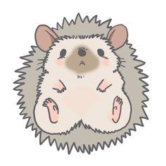Cute Kawaii Drawings, Cute Animal Drawings, Animal Sketches, Kawaii Art, Kawaii Anime, Hedgehog Art, Cute Hedgehog, Hedgehog Illustration, Character Art