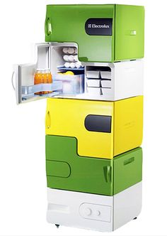 stackable fridge- why didn't anyone show me this in college???