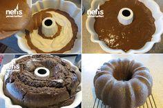 Içi Krem Peynirli (cheesecake'li) Kakaolu Kek 2 Doughnut, Cake, Desserts, Sweet Dreams, Food, Recipes, Tailgate Desserts, Deserts, Kuchen