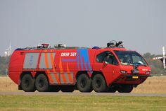 Royal Netherlands Navy Fire Truck DKM 561, seen at Den Helder Airport / De Kooij