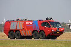 Royal Netherlands Navy Fire Truck DKM 561, seen at Den Helder Airport / De Kooij