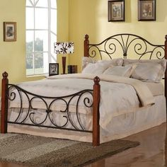 Wildon Home Madadequet Wrought Iron Bed