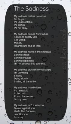 The Sadness by a quiet poet