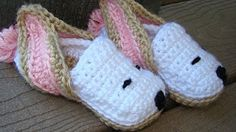 Crafts By Starlight - In process of moving to a website.: Crochet Slippers - Bunny Slippers
