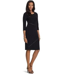 Chico's Travelers Classic Seamed Dress #chicos