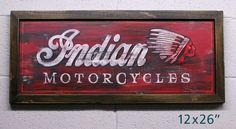 Indian Motorcycle vintage style sign by ChuckPetersonDesigns, $85.00
