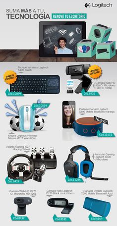Logitech #teclado #webcam #hd #mouse #parlantes #volante #auricular  www.gvinformatica.com.ar - #Logitech