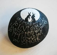 Sam's work is so stunning and her choice of quotes so beautiful.  painted stones « Sam Cannon Art