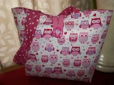 OWLS Valentine Purse Handmade NEW Pink Hearts Shoulder Bag #Handmade #TotesShoppers
