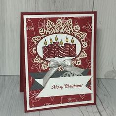 Christmas Card using Merry Patterns stamp set from Stampin' Up