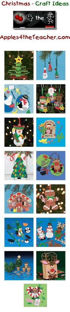 Diversión artesanía de Navidad para los niños - ideas del arte de Navidad para los niños.  http://www.apples4theteacher.com/holidays/christmas/kids-crafts/: