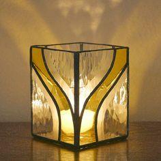 Delft serviesje gekleurd glas G1275 geel door SierraCreations