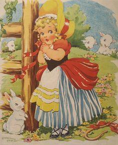 "Vintage ""Little Bo Peep"" by Ethel Hays, via Etsy."