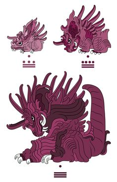 Pokémon Drawn In The Style Of Mayan Illustrations