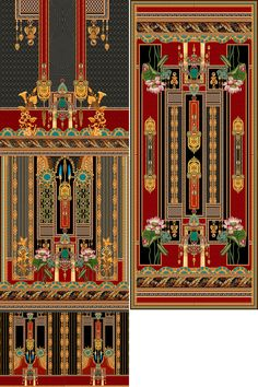 Flower Art Images, Paisley Art, Sacred Geometry Art, Textiles Techniques, Border Design, Clothes Women, Fashion Clothes, Textile Design, Digital Prints