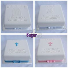 First Communion, Confirmation cakes for boys and girls, can be any colour.