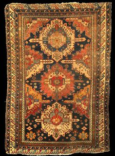 Antique Kuba Sunburst Zejwa carpet